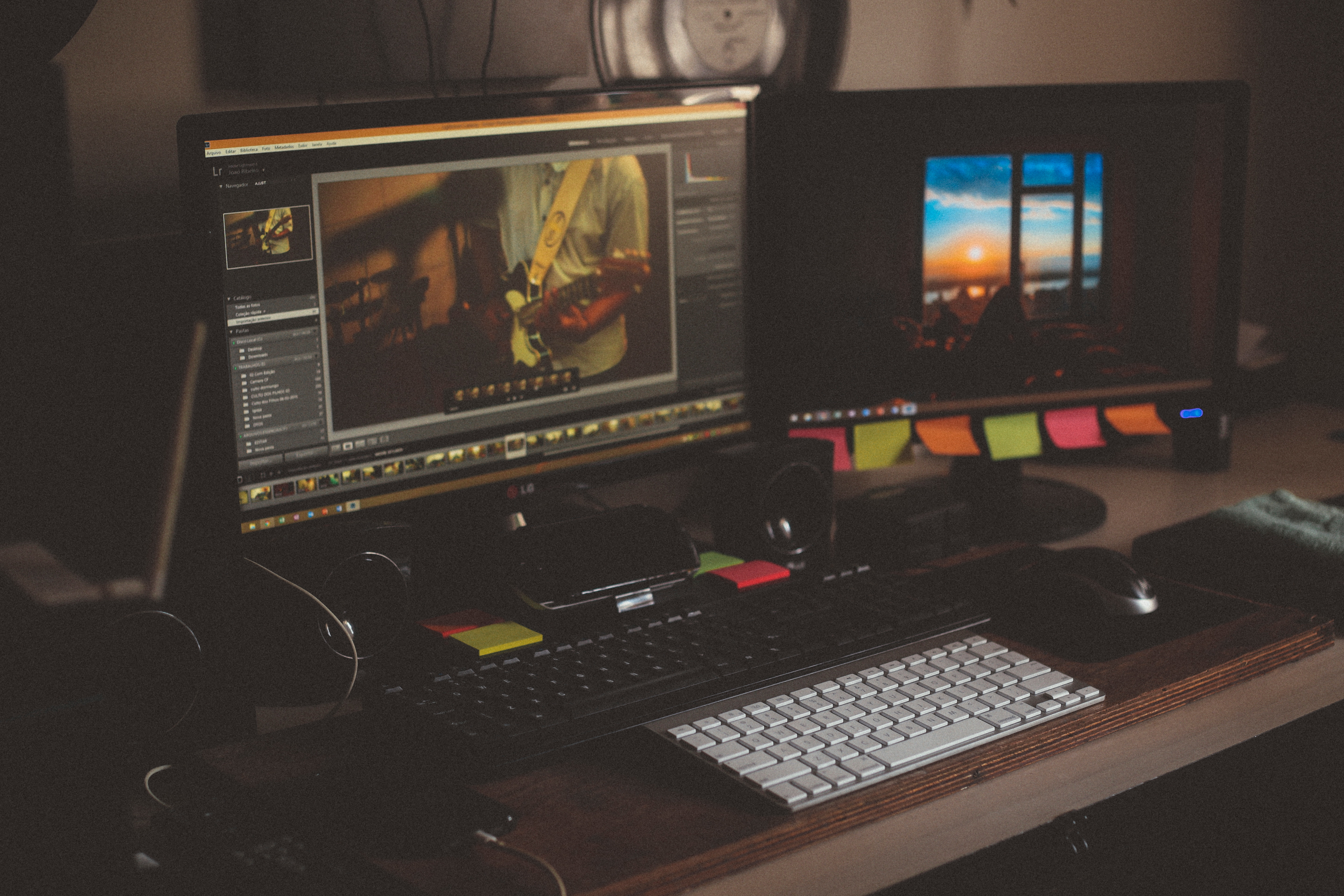 Photo of a computer station with video editing software by João Silas on Unsplash